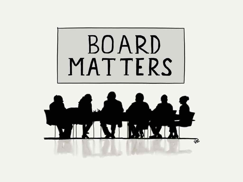 Silhouette of board meeting