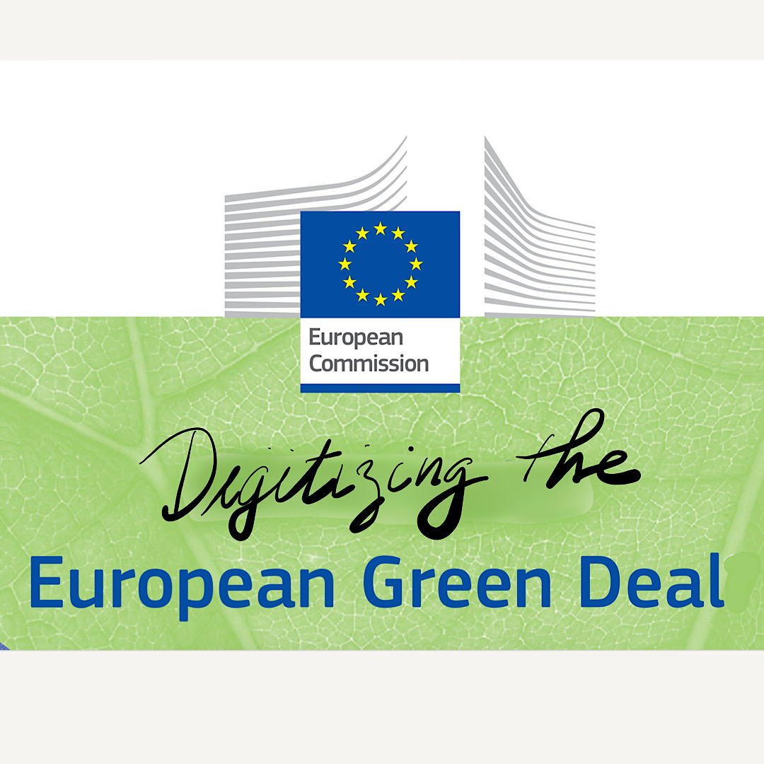 "Cover art for blog — reads ""digitizing the European Green Deal"""