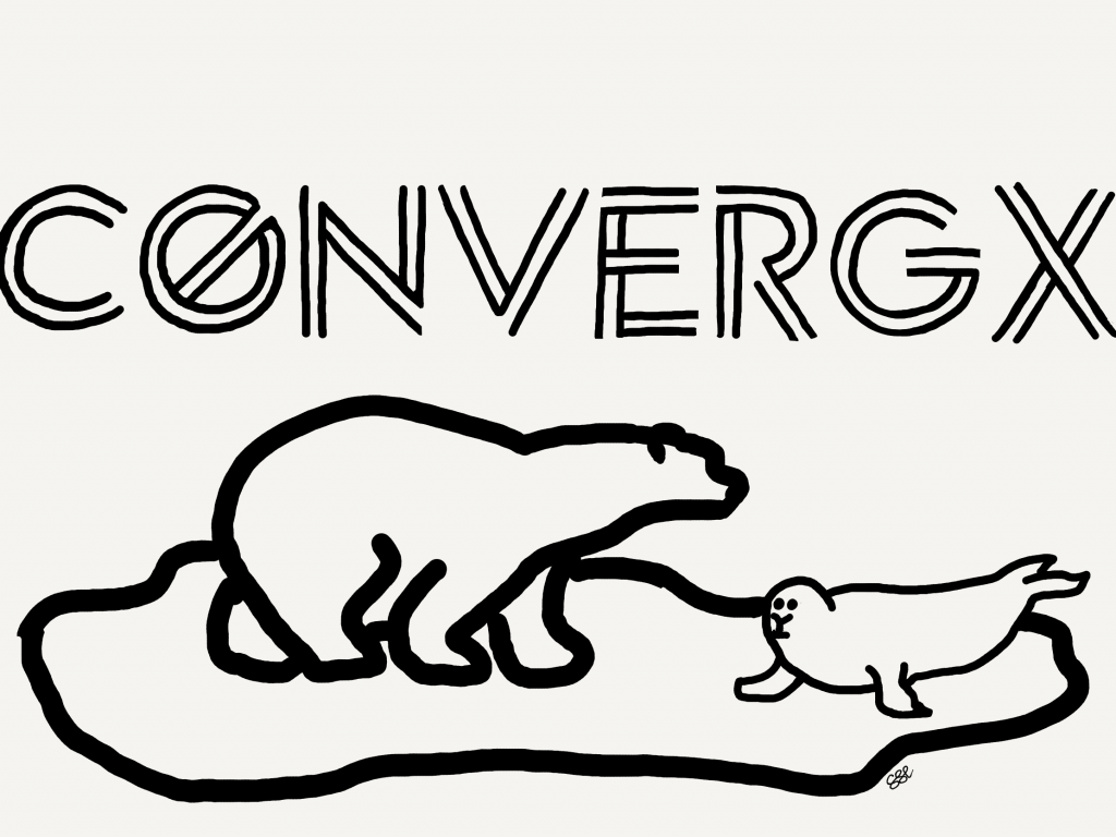 ConvergX logo with polar bear and seal