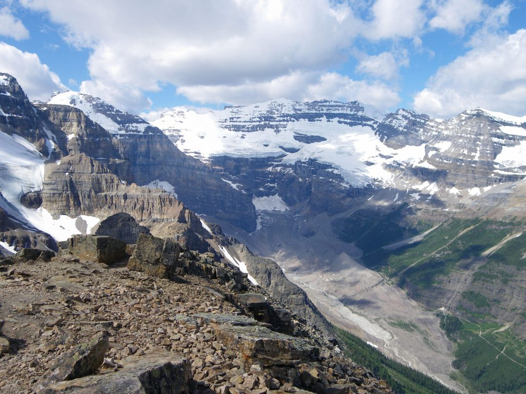 panoramic view of the Canadian Rockies