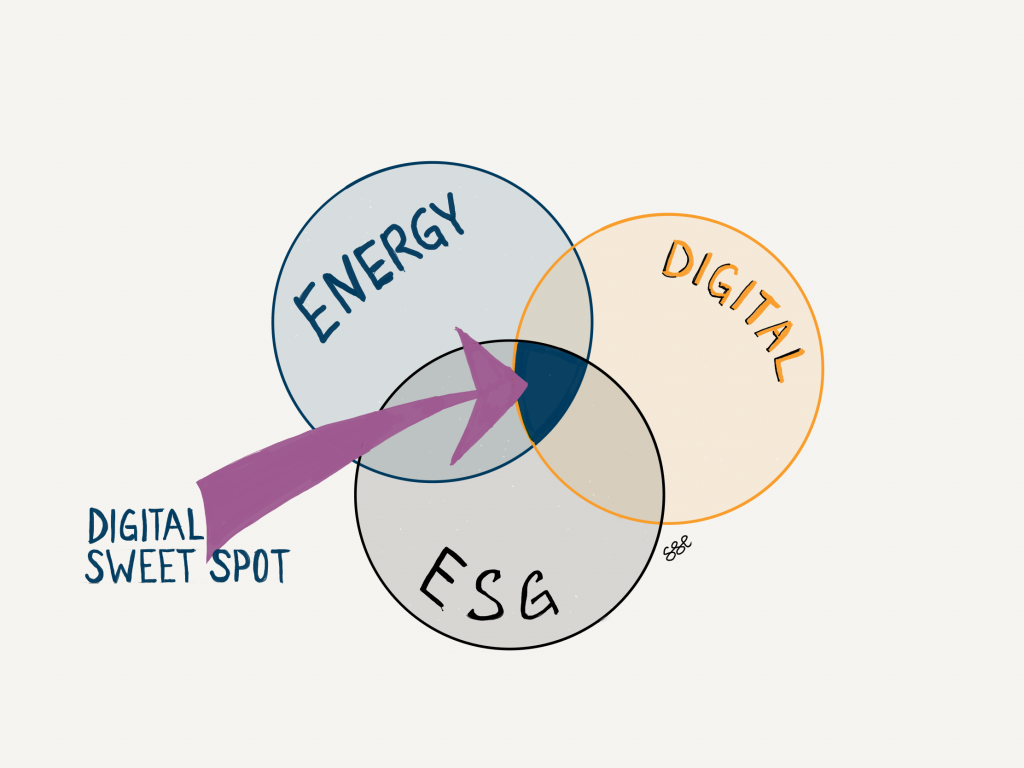 VENN diagram digital ESG Energy