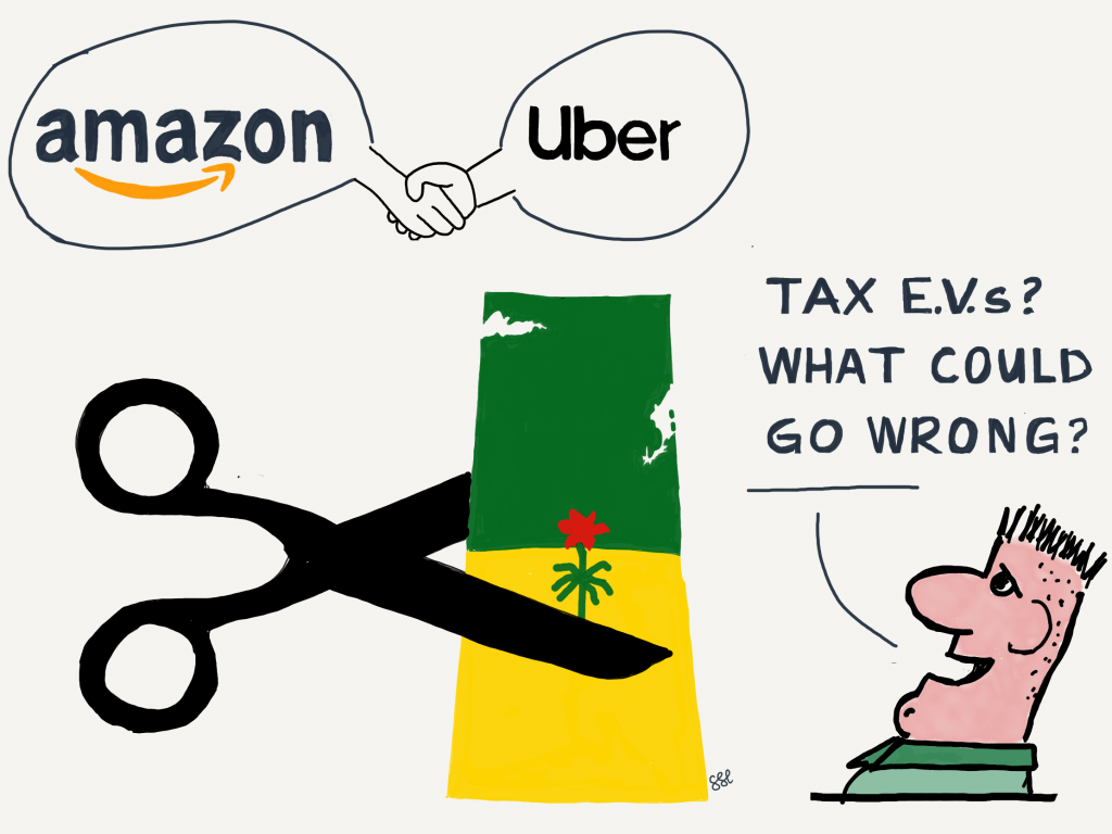 Fixed EV tax favours Amazon and Uber